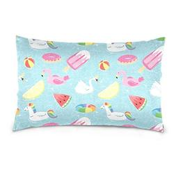 Lovexue Pillow Cases Summer Unicorn Bed Throw Pillow Covers