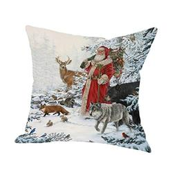 GBSELL Pillow Cover Joyous Christmas Pillow Case Sofa Cover