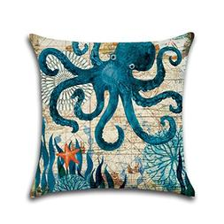 New Pillow Cover Marine Biological Cushion Pillow Case Sea T