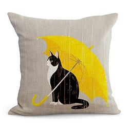 YIGUANGYEAR Pillow Cover, Funny Lovely Animals Abstract Ador