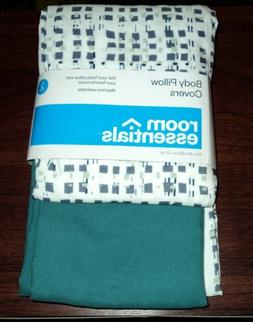 2-Pack Body Pillow Covers - Turquoise - Room Essentials&#153