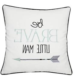 ADecor Pillow Covers Be Brave Little Man Pillow Cases Embroi