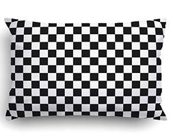 Emvency Pillow Covers Decorative Black And White Squares Bul