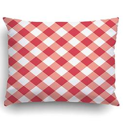Emvency Pillow Covers Decorative Diagonal Red Table Cloth Wi