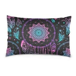 Lovexue Pillow Covers Beautiful Dreamcatcher Print Cool Pill
