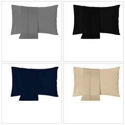 pillowcases 2 pack brushed microfiber pillow cover