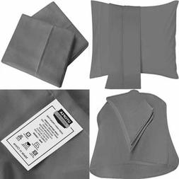 Pillowcases 2 Pack Soft Brushed Microfiber Fabric Wrinkle Sh
