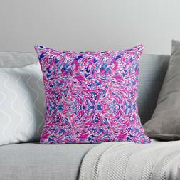 Pink and Blue Flowery Pattern Pillow Cases, Lilly Pulitzer P