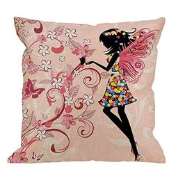 Pink Butterfly Throw Pillow Covers by HGOD DESIGNS - Girl Wi