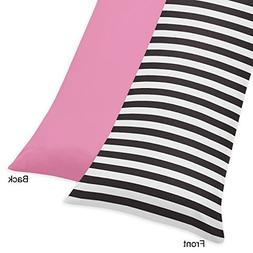 pink stripe paris double zippered