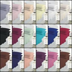 Plain Dyed Fitted sheets Poly Cotton King Size And Pillow Ca