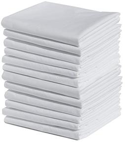 Polycotton Bulk Pack of 12 Standard Size Pillowcases, 200 Th