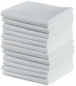 Polycotton Bulk Pack of 12 Queen Size Pillowcases, White 200