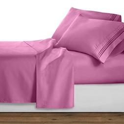 Clara Clark Premier 1800 Collection 4pc Bed Sheet Set - Quee