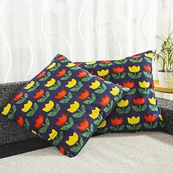 Printed Cushion Covers / Pillow Cases for Living Room, Pack