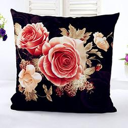 YJYdada Printing Dyeing Peony Sofa Bed Home Decor Pillow Cas