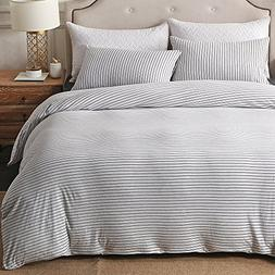 PURE ERA Cotton Jersey Knit Duvet Cover Set 1 Comforter Cove