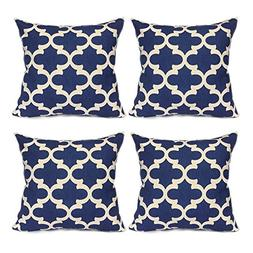FanHomcy Quatrefoil Throw Pillow Cases Decor Sofa Cushion Co