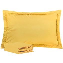 NTBAY Queen Pillow Shams, Set of 2, 100% Brushed Microfiber,