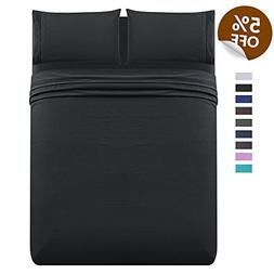 Luxe Manor 4pc Queen Size Bed Sheet Set - Soft Brushed Micr