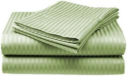 Queen Size Sage 400 Thread Count 100% Cotton Sateen Dobby St