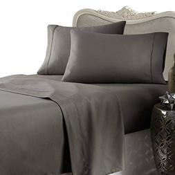 Egyptian Bedding Rayon from BAMBOO Sheet Set - King Size Gra