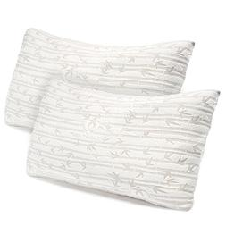 Set of 2 Bamboo Pillow, Clara Clark Rayon made from Bamboo S