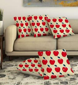 Red Apple Throw Pillow Cases Cushion Covers Home Couch Decor