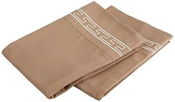 Blue Nile Mills Regal Embroidery Pillowcases Set, Standard,