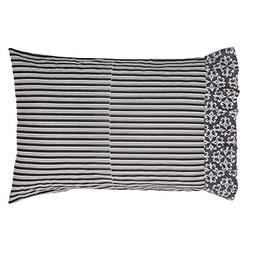 Romantic Parisian Elysee Pillow Cases in Grey and Creme, Set