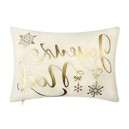 KING Rose Christmas Gold Foil Decorative Accent Throw Pillow