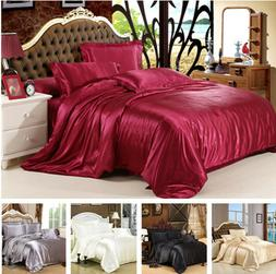 Satin Silk Charmeuse Silk Sheet Bedding Set Queen King Quilt
