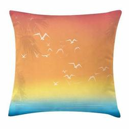 Seagulls Throw Pillow Cases Cushion Covers Ambesonne Home De