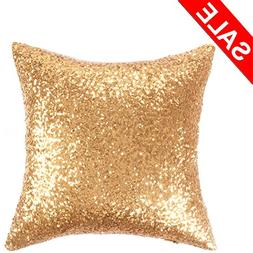 Kevin Textile Sequin Decor Throw Pillow Sham Cover Stylish S