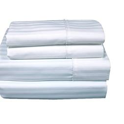 sheetsnthings Set of King Pillowcases Stripes White Cotton-B