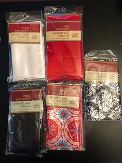 SET OF 2 SATIN PILLOWCASES STANDARD SIZE  NEW - PILLOW CASE