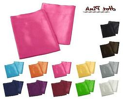 - Solid Soft Bridal Shiny Satin Pillow Cases - Queen/King