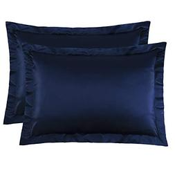 NTBAY Standard Shams Set of 2, Pillowcases, Silky Satin, for