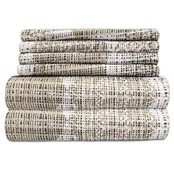 Sweet Home Collection 6PC-SHT-Q-MNACO 6 Piece 1500 Thread Co