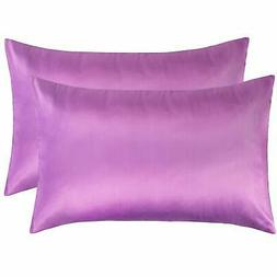 NTBAY Silky Satin Queen Pillowcases Set of 2, Super Soft and