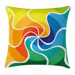 Sixties Throw Pillow Cases Cushion Covers Ambesonne Home Dec
