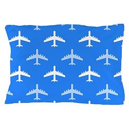 CafePress Sky Blue and White Airplane; Plane Standard Size P