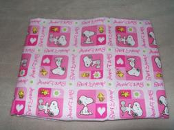 SNOOPY TRAVEL PILLOW CASE