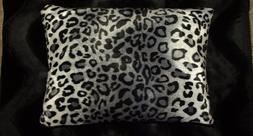 Snow Leopard Pillow Shams Standard Queen King Faux Fur Pillo