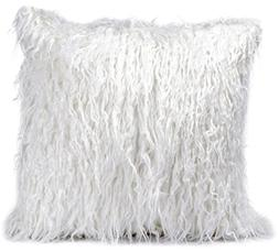 ButiShop Soft White Faux Fur Throw Pillow Case Long Furry De