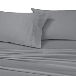 Royal's Solid Gray 1000-Thread-Count 2PC King Pillowcases Se