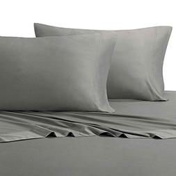 Solid Gray King Size Pillowcases, 2PC Pillow Cases, 100% Cot