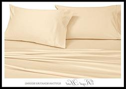 Royal's Solid Ivory 1000-Thread-Count 2PC King Pillowcases S