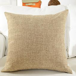 HOME BRILLIANT Textured Linen European Pillowcase Pillow Sha