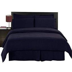 Royal Hotel's Solid Navy 300-Thread-Count 4pc Queen Bed Shee